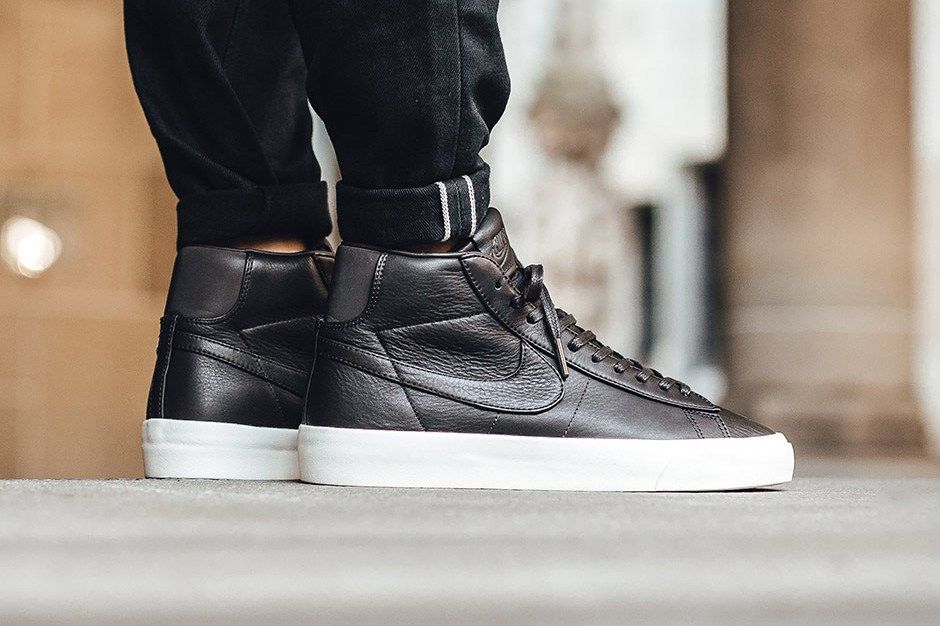NikeLab Revamps the Blazer Mid With Premium Leather | Nike leather ...