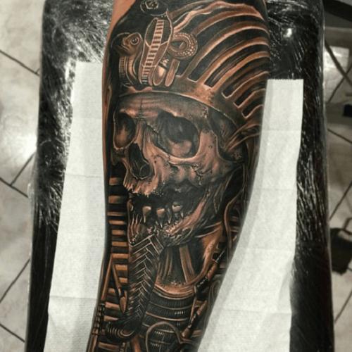 Tatoueur Egyptien Pharaon Crane My Tattoo Tatouage