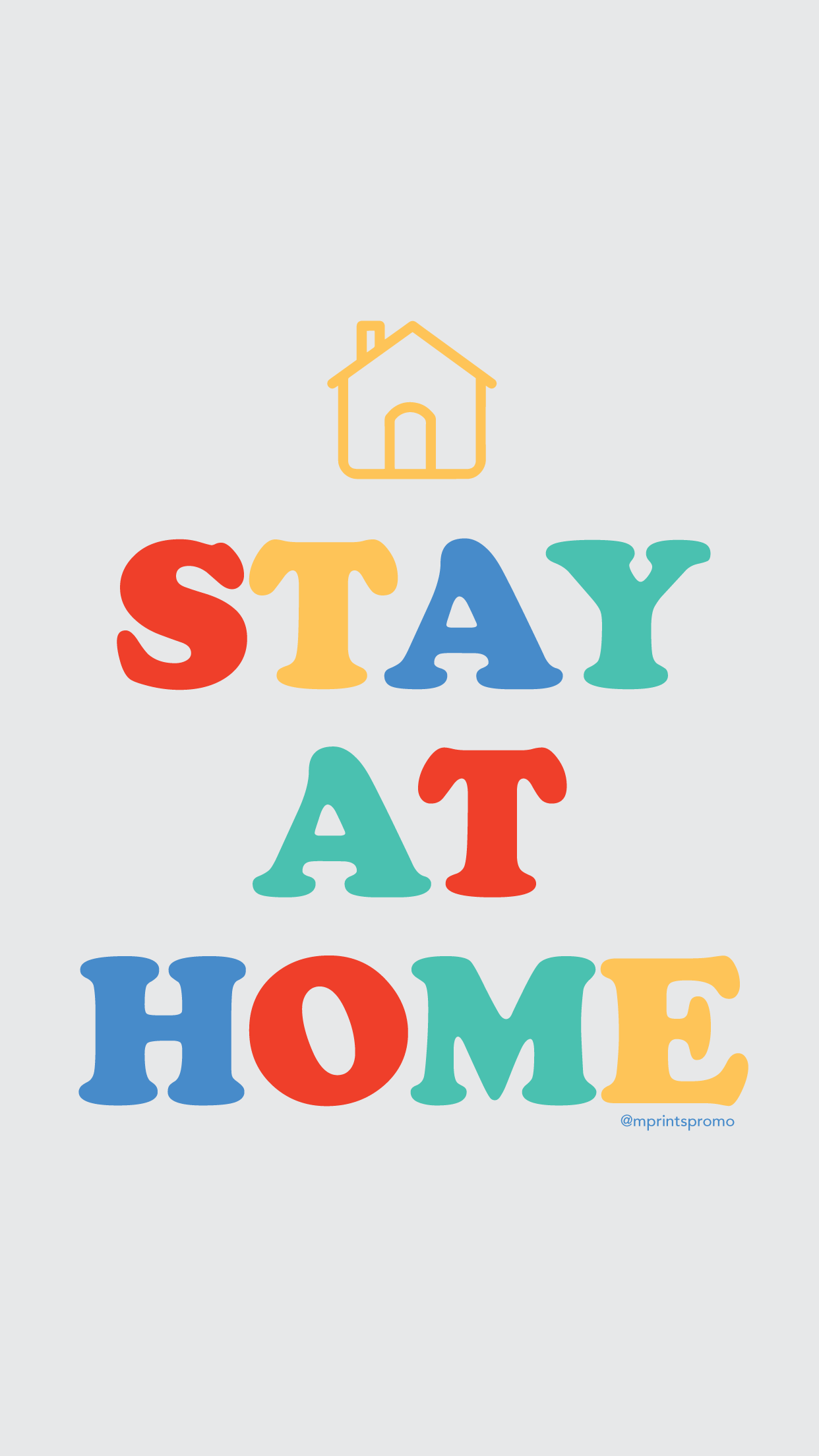 Stay Home WFH Free Wallpaper Flatten the Curve