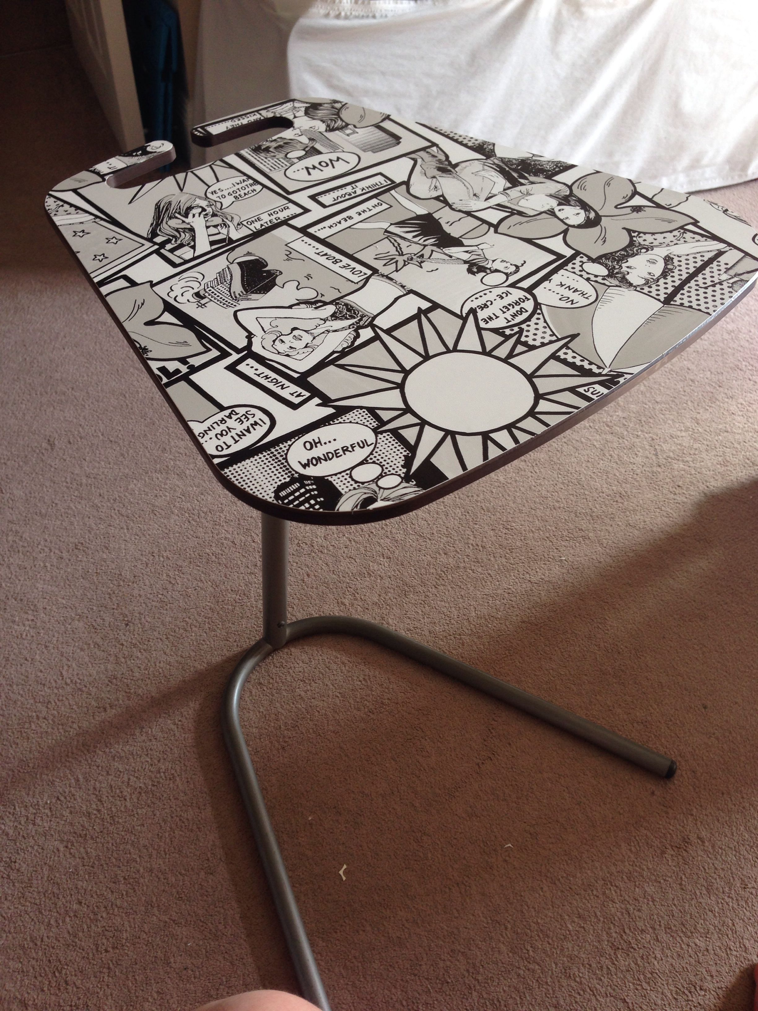 Habitat Computer Table Covered With Fablon Comic Vinyl