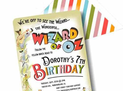 Invitation Wizard of Oz Technicolor Collection by LoraleeLewis