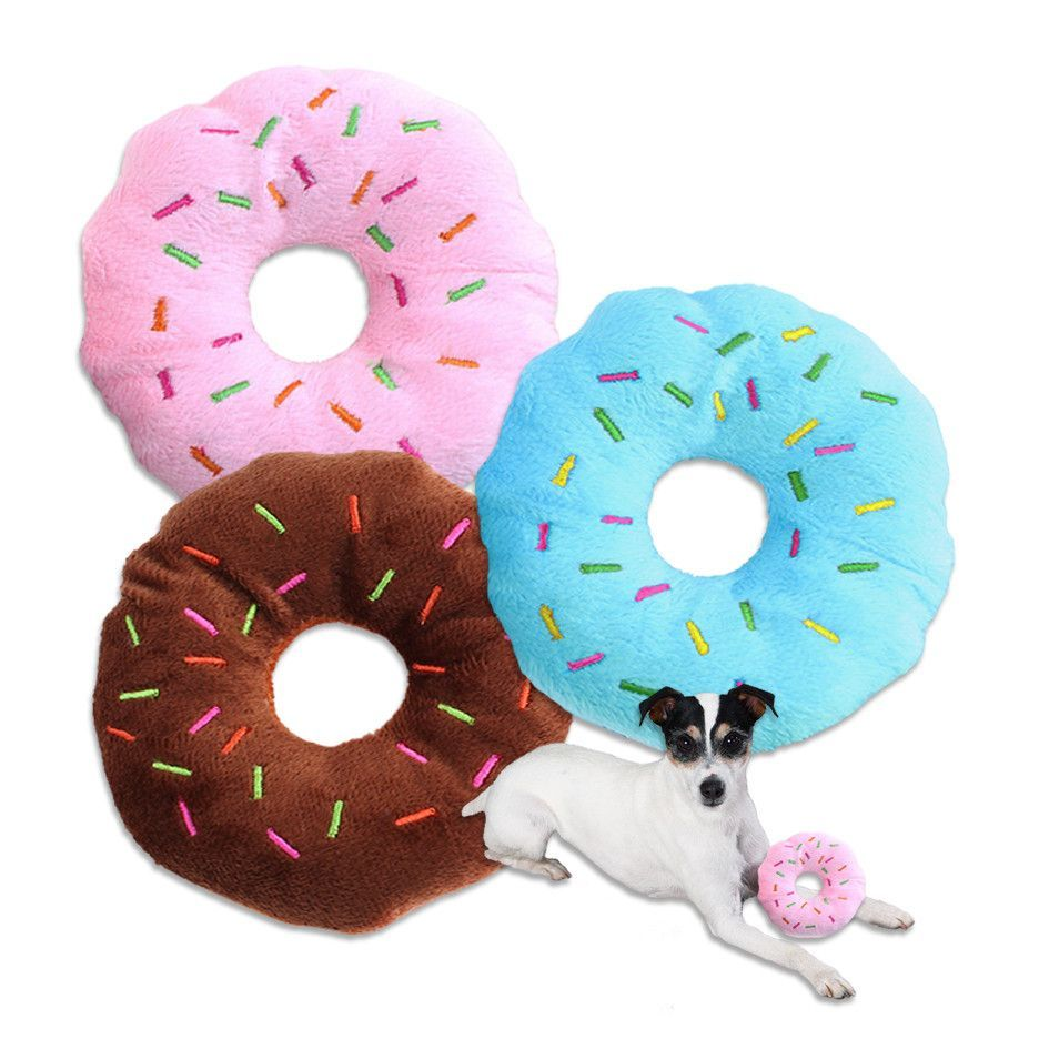 Doughnut Small Dog Toy Glazed And With Sprinkles Small Dog
