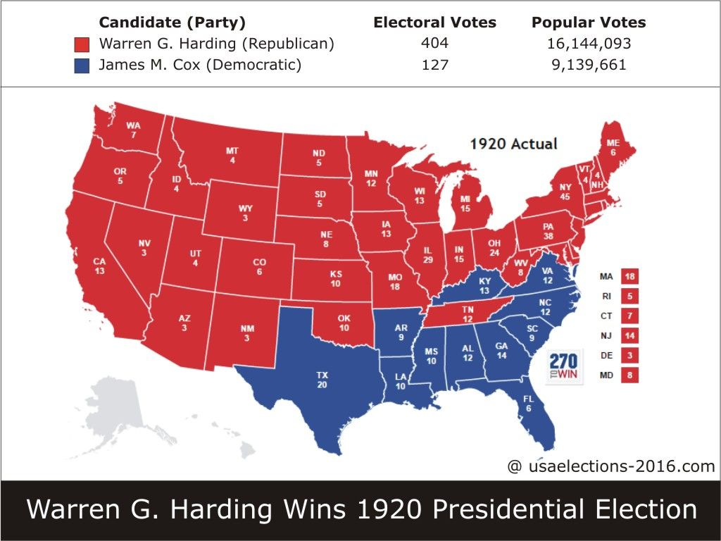 Pin on US Election Past Results  Election Map Us on united states map, 1840 political party map, 1920 election chart, 1920s america popularity map, treaty of versailles map, 1920 election results, mandate system map, 1920 electoral college map, 1920 election poster, 1920 election hat,