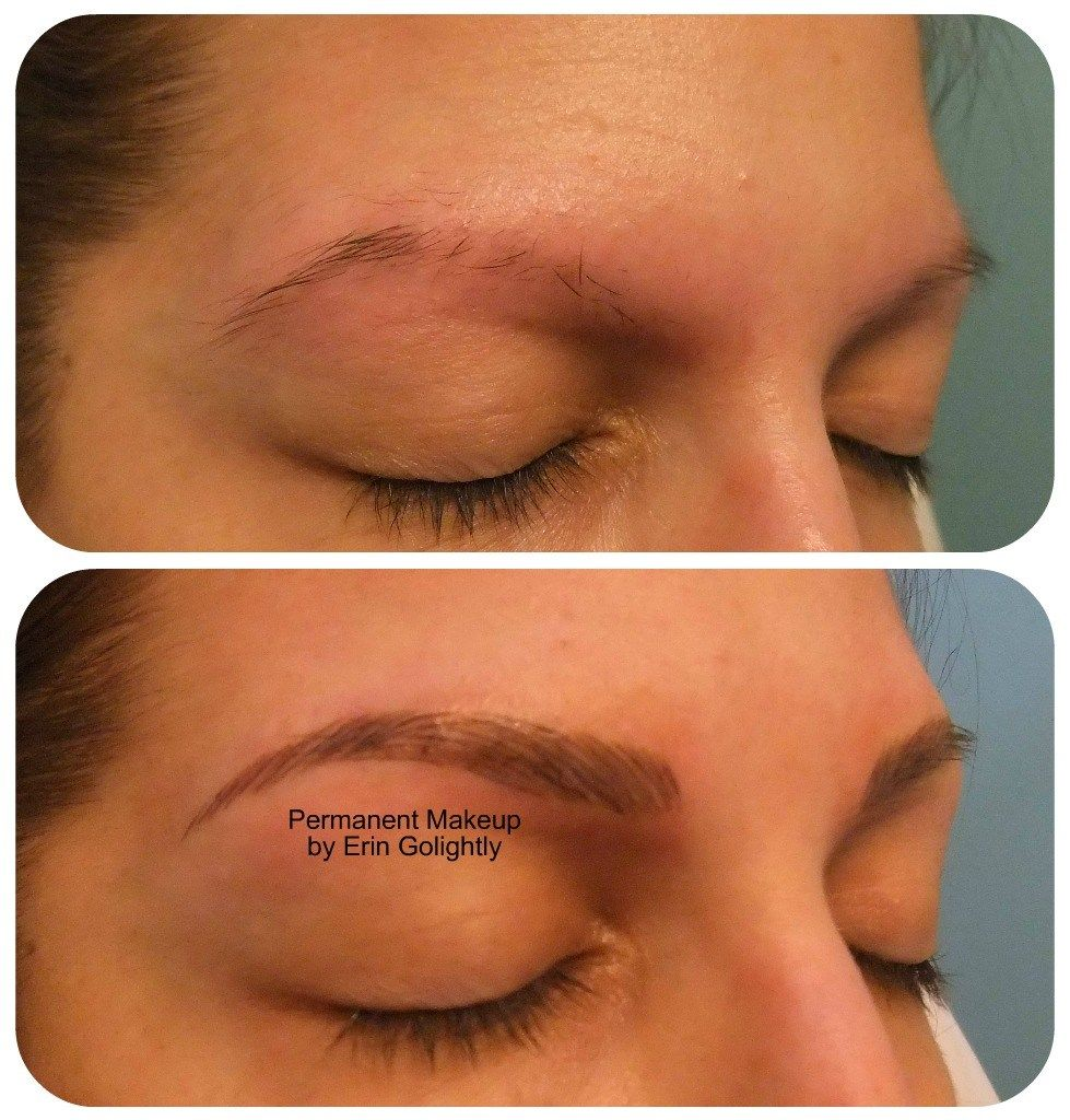 Before and after 3D hairstroke eyebrows | Eyebrows, Makeup ...