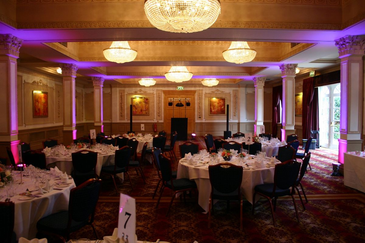 Lighting Se Up For The Day Time Reception At Down Hall Country House Hotel