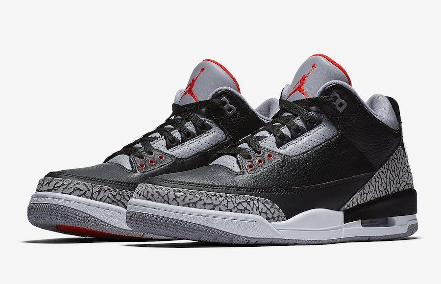 Air Jordan 3 Black Cement 2018 Retro 854262 001 Air Jordans Retro Jordan 3 Black Cement Air Jordans