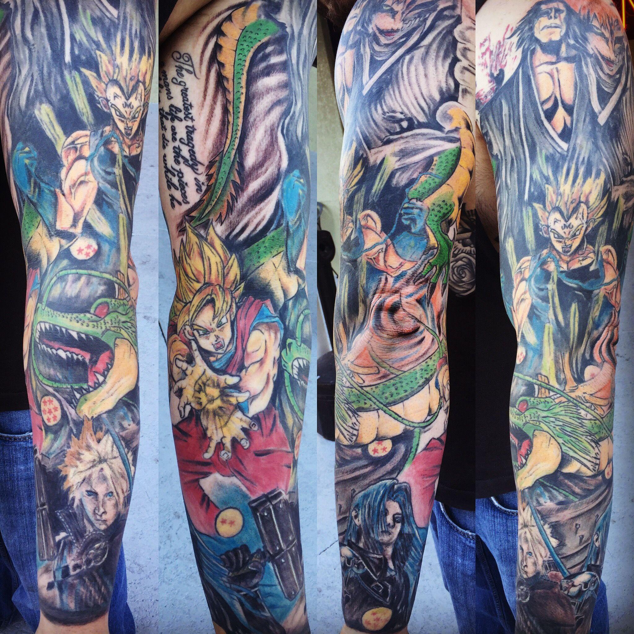 Multiple Tattoo Sleeve: Anime Sleeve By Jac Bryan #animesleeve #sleevetattoos