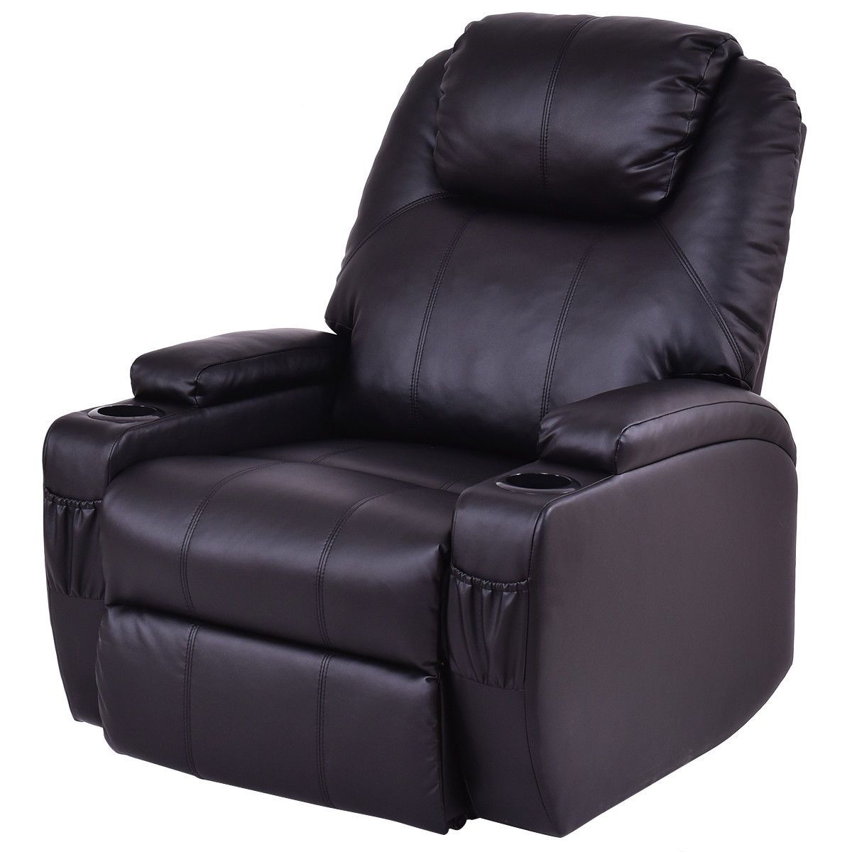 Electric power lift chair recliner w remote cup holder