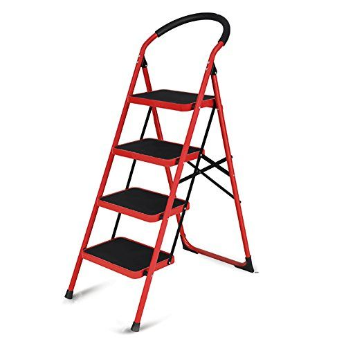 Peachy Tricam Industries 4 Step Steel Skinny Mini Step Stool Ladder Machost Co Dining Chair Design Ideas Machostcouk