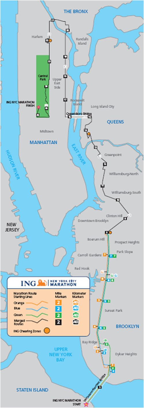 New York J 24 Nyc Marathon New York Marathon Route Map