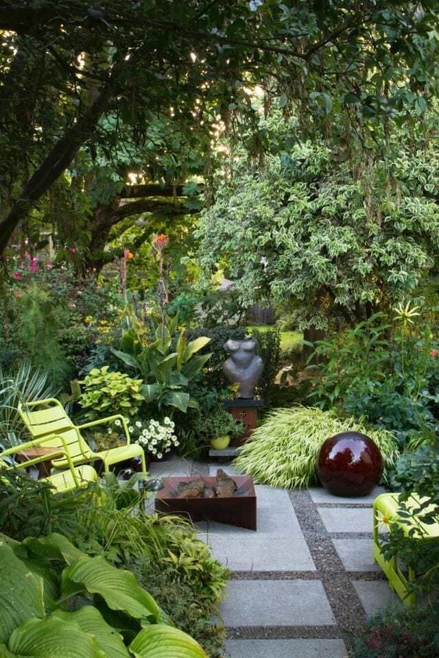 "developing a signature garden style, even in a small space, with designer susan morrison is part of Small garden design, Garden spaces, Small gardens, Backyard landscaping, Garden styles, Shade garden - I DON'T HAVE a small yard, but I nevertheless sat down with a new book called ""The Less Is More [read more…]"