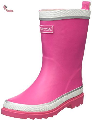 Regatta Bottes FILLE - Multicolore - Rose/blanc jaufI,