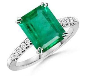 Emerald Ring, Emerald Cut Ring, Emerald Diamond Ring, Emerald Cut ...