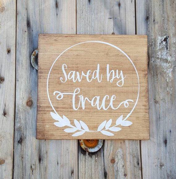 Bible Verse Wall Art Saved By Grace Wood Wall Art