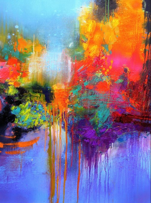 Love The Bright Colors And Drippiness Gerhard Richter Abstract Paintings Painting Art