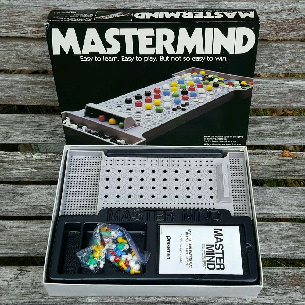 Vintage 1981 MASTERMIND Strategy GAME Pressman 3016