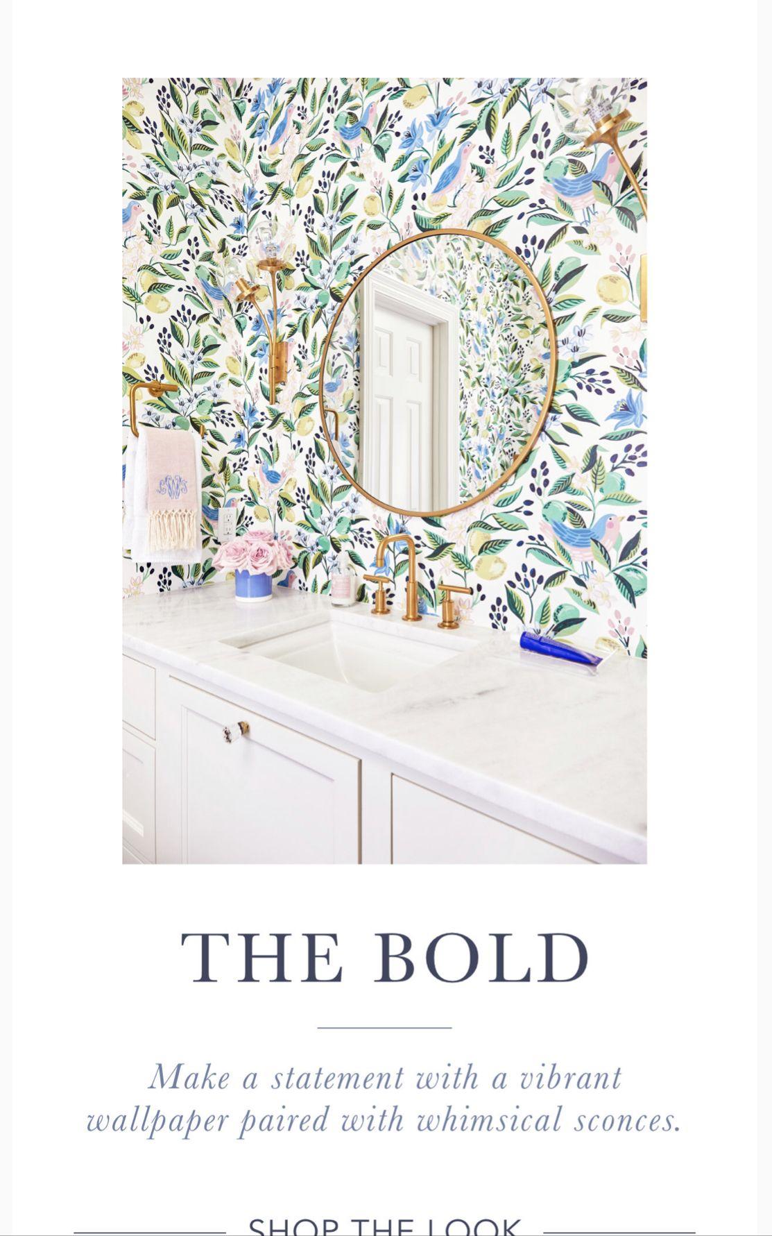 Caitlin Wilson bold powder room wallpaper ideas Powder