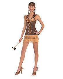 Adult Lace Up Native American Costume