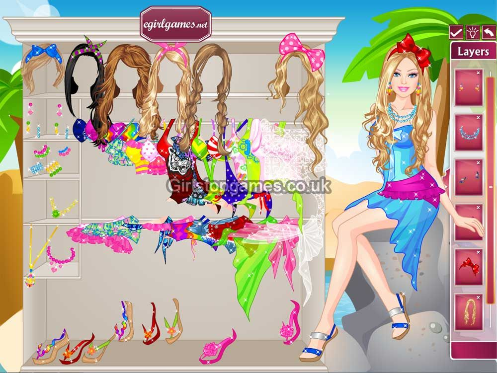 You can Online Play Barbie Dress Up Colorful Swimsuits Game Free ...