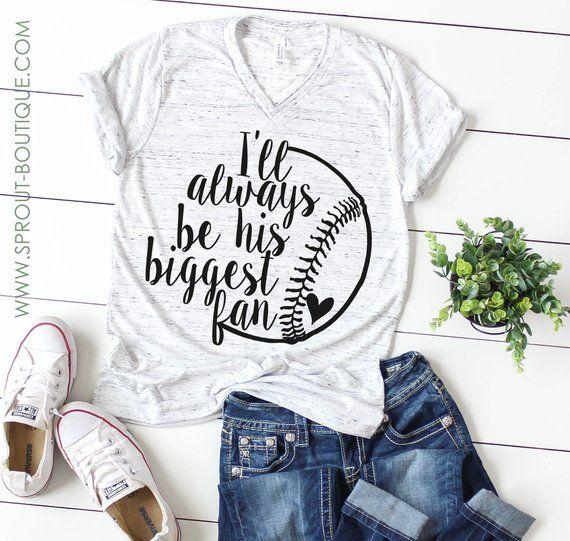 e09cc88e BIGGEST FAN, Baseball Tee - Baseball Mom Shirt | Products