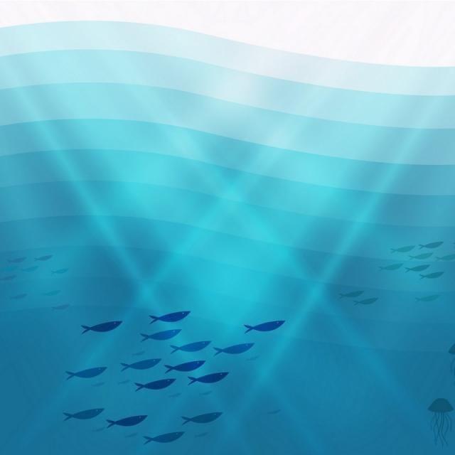 Deep Sea Illustration Background, Abstract, Aquarium