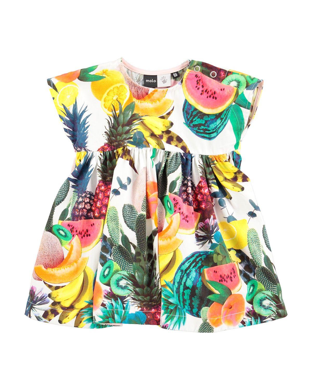 2de9e6ea96ca Chaka Poplin Fruit-Print Dress