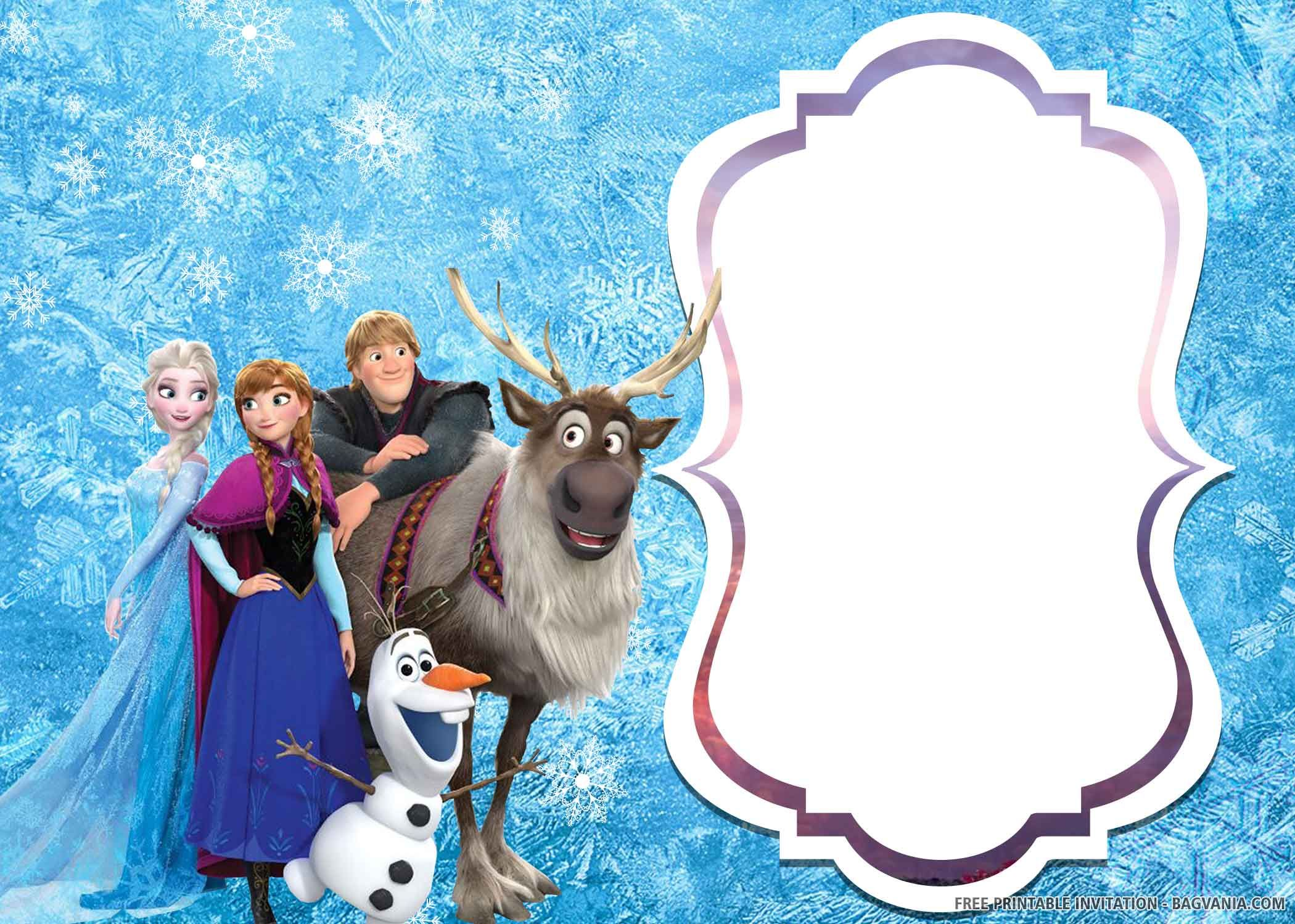 frozen 2 birthday invitation templates