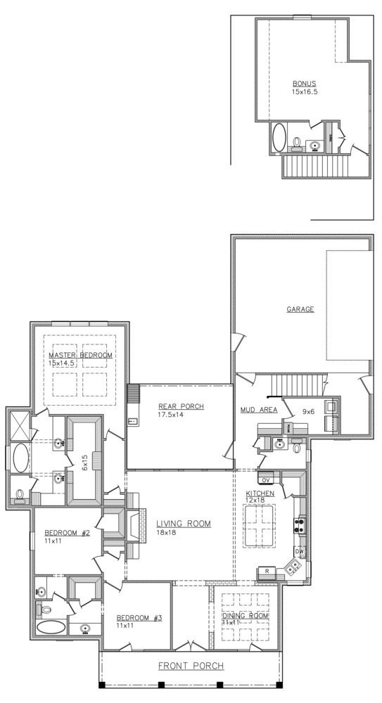 Good Floor Plan For Spec Home One Level House Plans House Floor Plans House Design