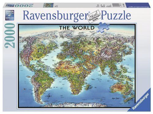 Ravensburger world map jigsaw puzzle 2000 piece by ravensburger ravensburger world map jigsaw puzzle 2000 piece by ravensburger english manual gumiabroncs Choice Image