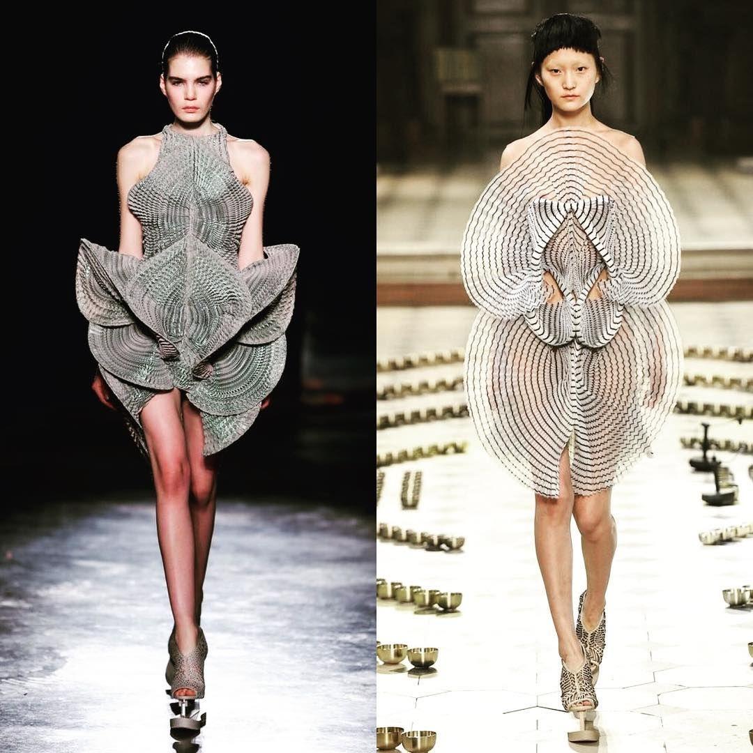 Zijn jullie fan van mode ontwerpster Iris van Herpen? #fall2016 #irisvanherpen #fashiondesigner #coutureshow #readytowear…