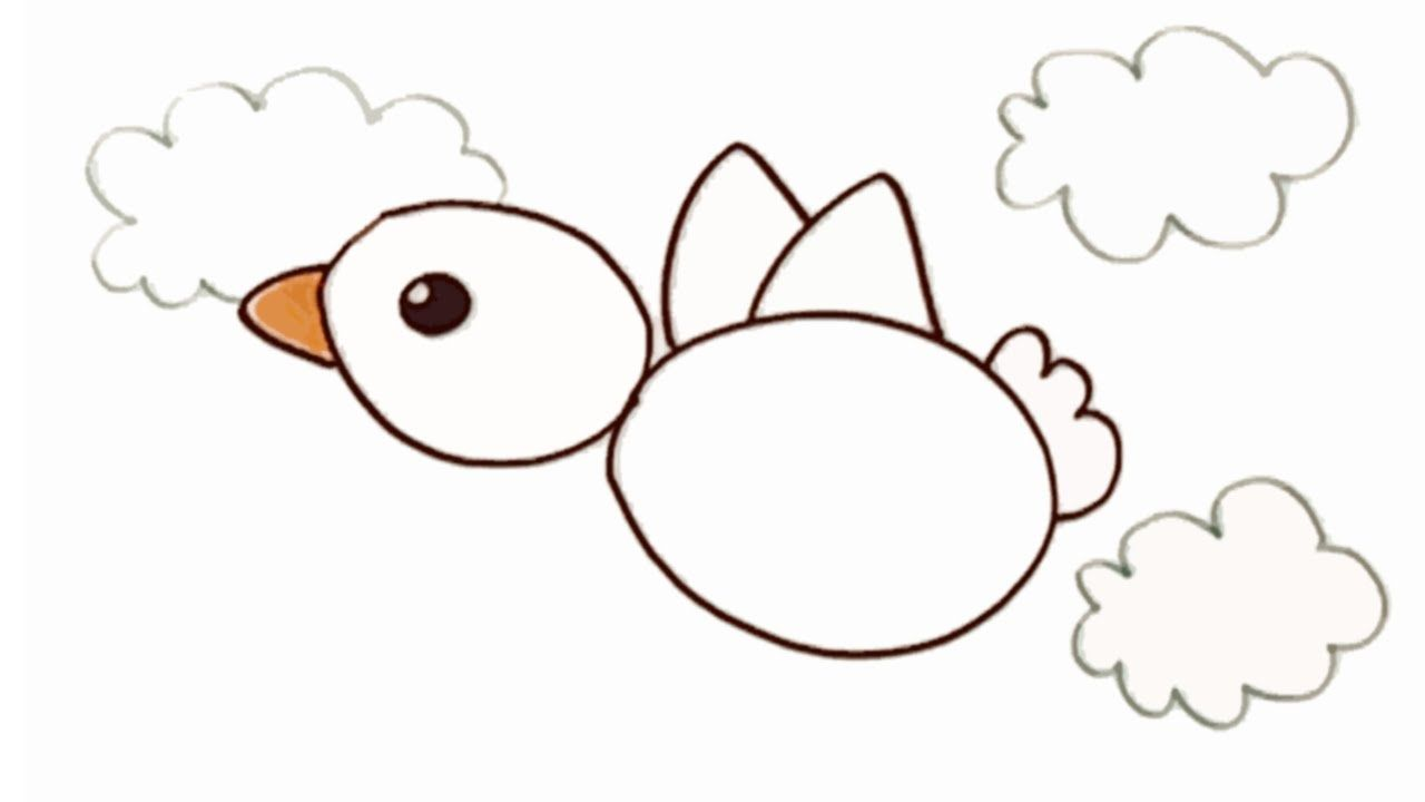 Como Dibujar Un Pajaro Paso A Paso Con Los Ninos Dibujos De Pajaro Como Dibujar Dibujos De Animales
