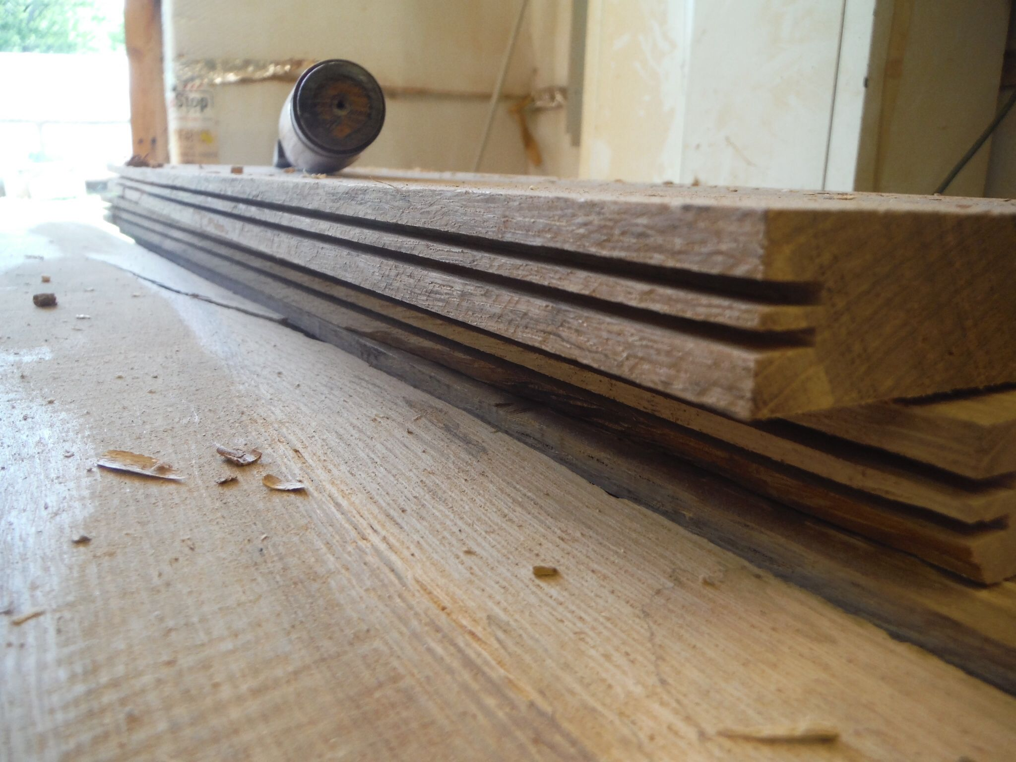Using The Table Saw And Chisel To Make The Tongue And Groove Panel