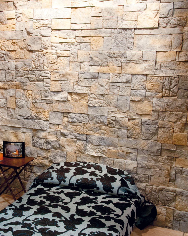 Revestimiento montblanc dormitorios bedrooms revestimiento dormitorios y u as con piedras - Colocacion piedra natural ...