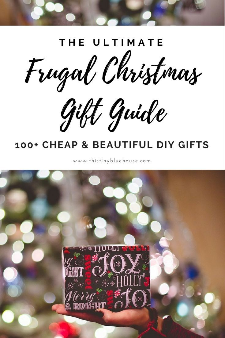 100+ DIY Budget Friendly Christmas Gifts | Pinterest | Frugal ...