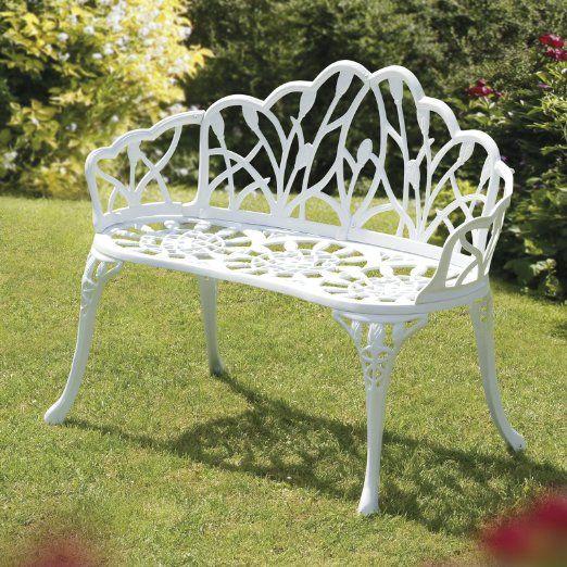 Transcontinental Group Ltd 95cm Perth Cast Iron Bench White