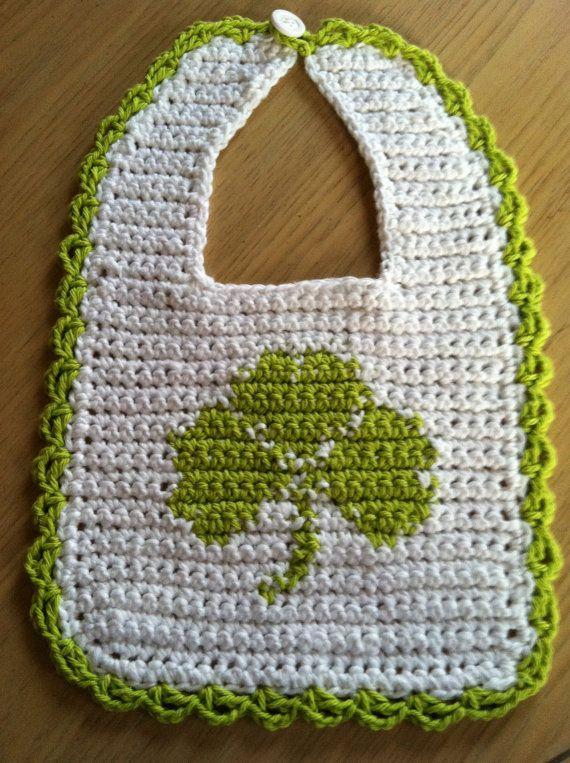 File Crochet Bib - Shamrock, Crochet Pattern PDF 12-028 INSTANT ...