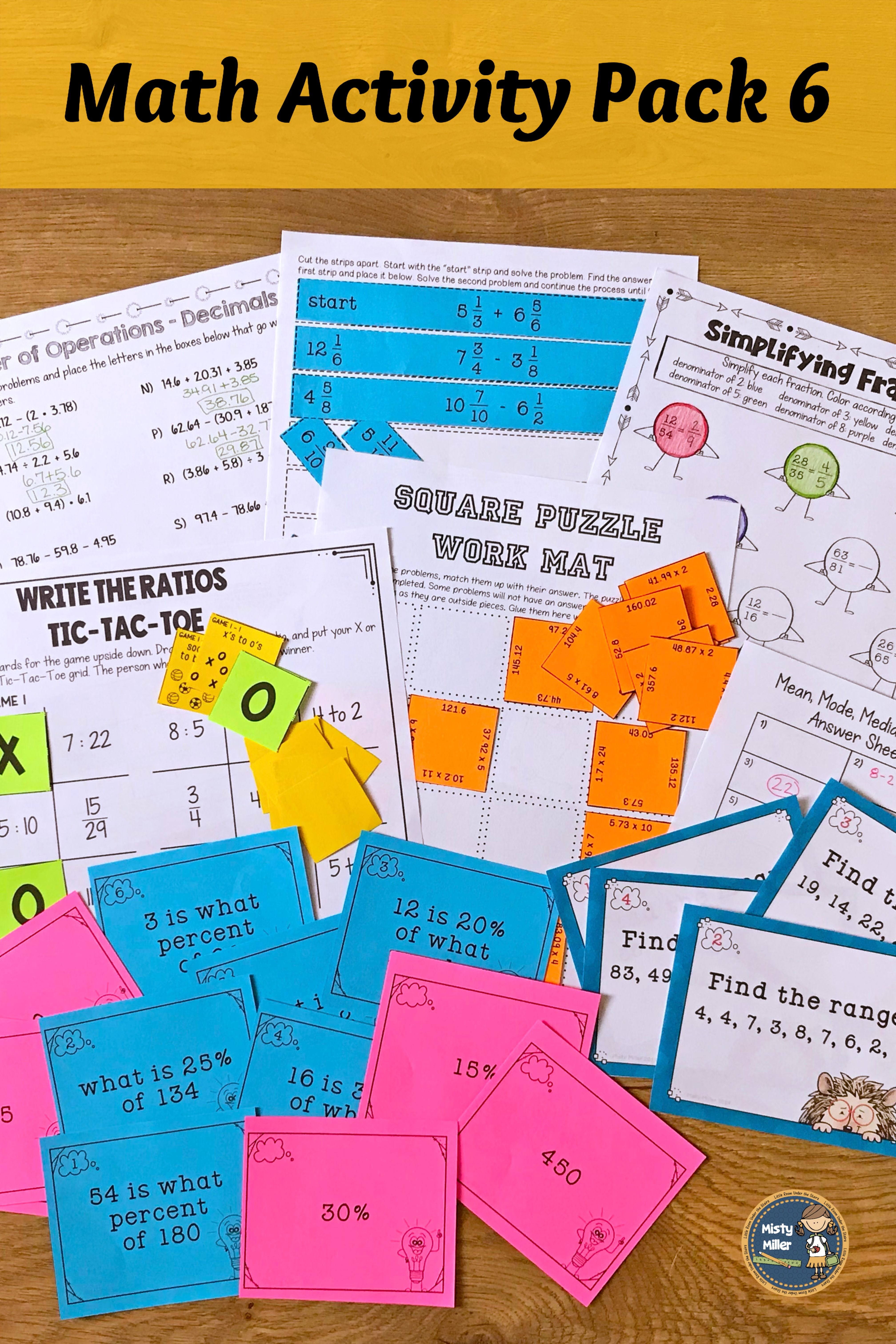 Math Activities Packet 6 Distance Learning