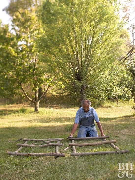 Make Your Own Willow Arbor Twig Furniture Rustic