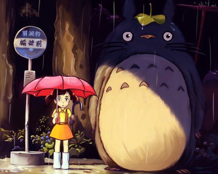 Bus Stop By Viria13 Deviantart Com On Deviantart Studio Ghibli