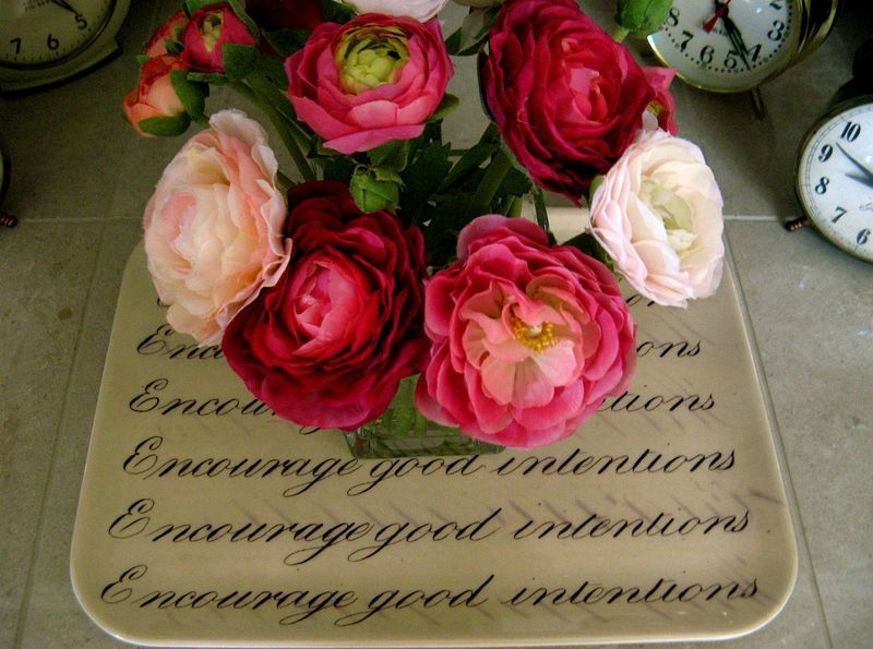roses and writing