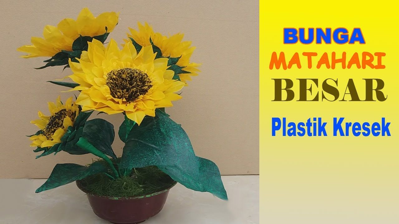Easy Ways to Make Sunflowers from Crackle Plastic Crafts Plastic Sunflower Flowers