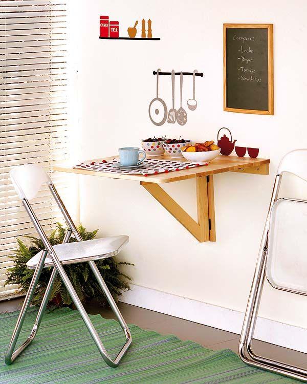 Soluciones para cocinas peque as ingeniosamente - Mesa cocina pequena ...
