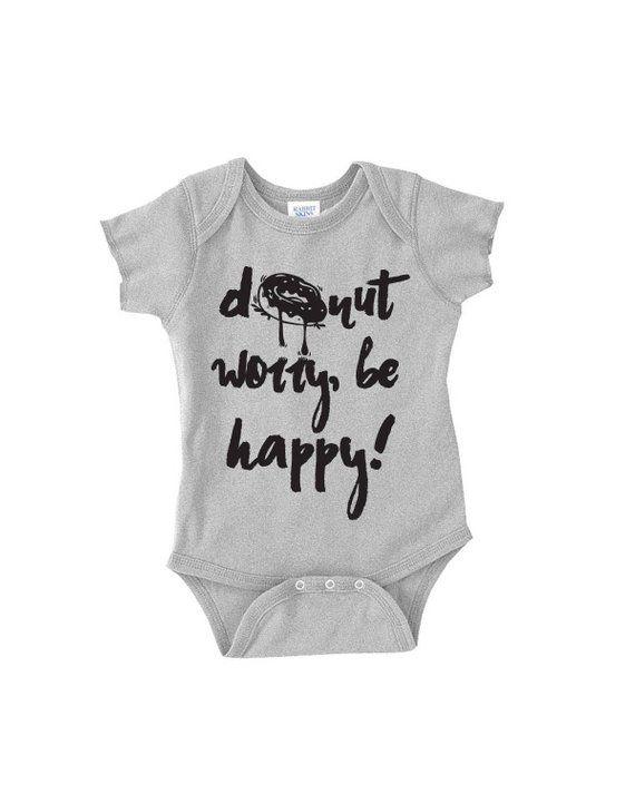 Don/'t Worry BE HAPPY Baby Onesie