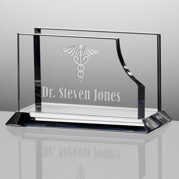 Any doctor would be thrilled to receive this personalized crystal any doctor would be thrilled to receive this personalized crystal desktop business card holder colourmoves