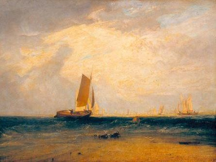 Sheerness and the Isle of Sheppey / A.W.Callcott after William Turner / Painting, 1808 #William #Turner #weewado #Will #turner #fishery #sky #art #landscape