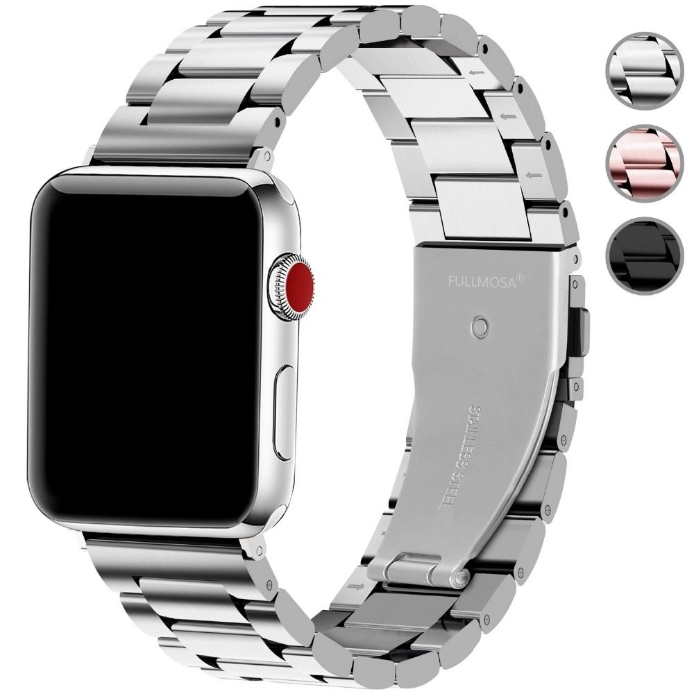 Apple Watch Series 5 4 3 2 Band, Matte flat link sport