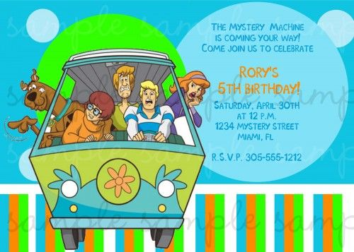 Scooby Doo Birthday Invitation Scooby Doo Birthday Party