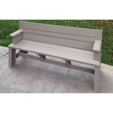 Convert A Bench Plastic Folding Picnic Table Bench Multiple Colors Walmart Com Convert A Bench Picnic Table Bench Outdoor Garden Bench