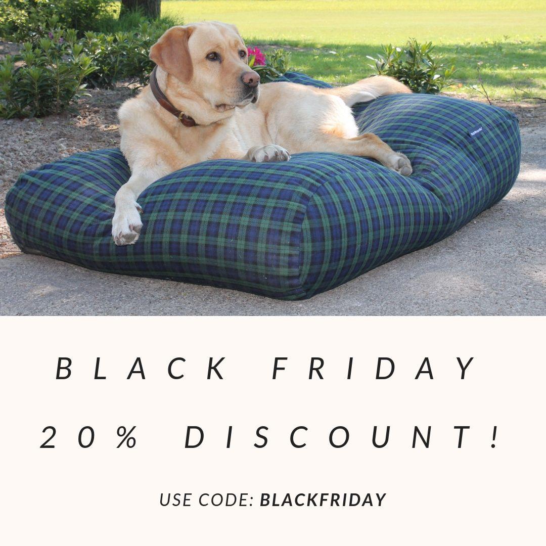 Black Friday Tartan Dog Dog Bed Dogs