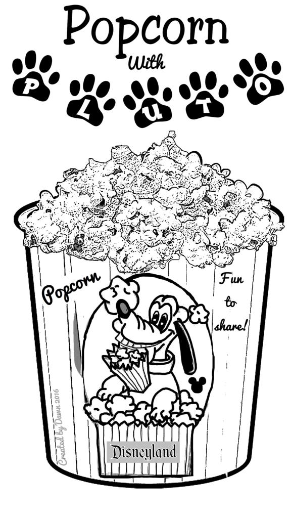 kleurplaat popcorn kleurplaten dieren